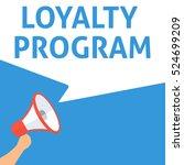 loyalty program announcement.... | Shutterstock .eps vector #524699209