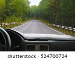 view from salon of car going on ... | Shutterstock . vector #524700724