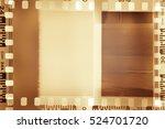 film negative frames on brown...   Shutterstock . vector #524701720