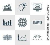 set of 9 universal editable... | Shutterstock .eps vector #524702989