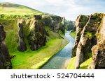 fjadrargljufur canyon with... | Shutterstock . vector #524704444