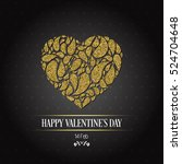 valentines day card. vector... | Shutterstock .eps vector #524704648