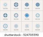 geometric logo template set.... | Shutterstock .eps vector #524705590