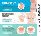 plastic surgery horizontal... | Shutterstock .eps vector #524707633