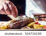 chef in hotel or restaurant... | Shutterstock . vector #524710150