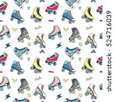 seamless pattern with cute... | Shutterstock .eps vector #524716039