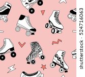 seamless pattern with cute... | Shutterstock .eps vector #524716063