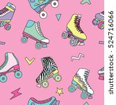 seamless pattern with cute... | Shutterstock .eps vector #524716066