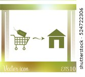 home delivery icon | Shutterstock .eps vector #524722306