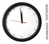 an isolated shot of a clock... | Shutterstock . vector #524724550