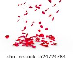 Stock photo rose petals fall to the floor isolated background 524724784