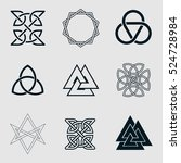 set of geometric shape. trendy... | Shutterstock .eps vector #524728984