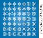 snowflakes vector set. vector... | Shutterstock .eps vector #524732008