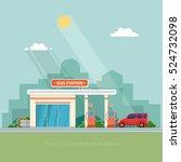gas station. oil  fueling... | Shutterstock .eps vector #524732098