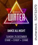 dance party  dj battle poster...   Shutterstock .eps vector #524732470
