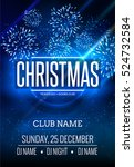 christmas party poster design... | Shutterstock .eps vector #524732584