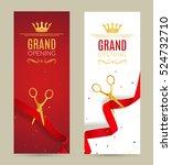 grand opening invitation banner.... | Shutterstock .eps vector #524732710