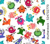 cute vector seamless colorful... | Shutterstock .eps vector #524732770