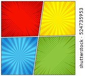 comic book page background with ... | Shutterstock .eps vector #524735953