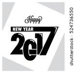 2017   happy new year  ... | Shutterstock .eps vector #524736550