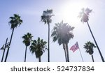 palm trees in los angeles | Shutterstock . vector #524737834