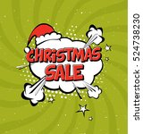 christmas sale vector design... | Shutterstock .eps vector #524738230