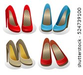 Vector Set Of Four Pairs Of...
