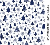 holiday pattern  christmas... | Shutterstock .eps vector #524743168