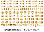 ribbon banner label gold vector ... | Shutterstock .eps vector #524744074