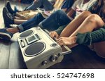 radio music friends unity style ... | Shutterstock . vector #524747698