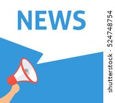 news announcement. hand holding ... | Shutterstock .eps vector #524748754