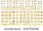 label ribbon banner gold vector ... | Shutterstock .eps vector #524752048