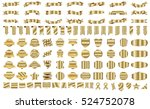 label ribbon banner gold vector ...   Shutterstock .eps vector #524752078