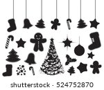 christmas icon set | Shutterstock .eps vector #524752870