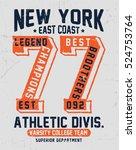 college new york typography  t... | Shutterstock .eps vector #524753764