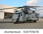 Small photo of MIRAMAR, CALIFORNIA, USA - OCT 15, 2006: US Marines CH-53E Super Stallion military helicopter on it's homebase at Miramar Air Station.