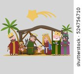3d illustration. the stable of... | Shutterstock . vector #524756710