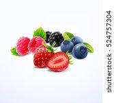 breakfast with fruit | Shutterstock .eps vector #524757304
