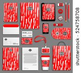 red bright corporate identity... | Shutterstock .eps vector #524758708