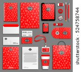 red bright corporate identity... | Shutterstock .eps vector #524758744