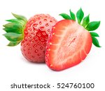 perfectly retouched strawberry... | Shutterstock . vector #524760100