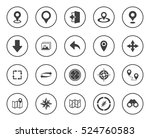 navigation icons | Shutterstock .eps vector #524760583