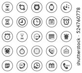 time icons | Shutterstock .eps vector #524760778
