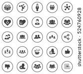 social icons | Shutterstock .eps vector #524760928