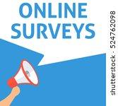 online surveys announcement.... | Shutterstock .eps vector #524762098