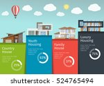 4 types of real estate business ... | Shutterstock .eps vector #524765494
