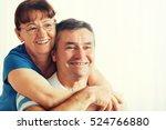 seniors enjoying living room... | Shutterstock . vector #524766880