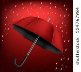 The Red And Black Umbrella On...