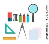 vector illustration of back to... | Shutterstock .eps vector #524768944