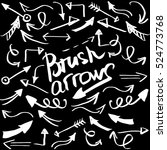 hand drawn brush arrow. sketch... | Shutterstock .eps vector #524773768